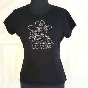 Vintage Studded Rhinestone Cowgirl T-Shirt